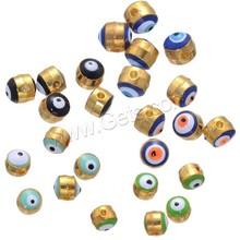 Gold plated Zinc Alloy Evil Eye Beads