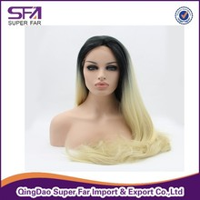 180% High Density 100% Kanekalon Jumbo Hand Made Braid/braided Lace Synthetic Hair Wigs