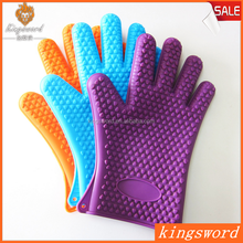 Kitchen Silicone Oven Glove Heat Resistant BBQ Glove for Cooking