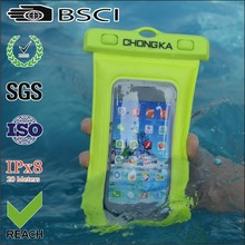 fashion clear waterproof cell phone bag/pvc waterproof floating case/floating pvc waterproof bag