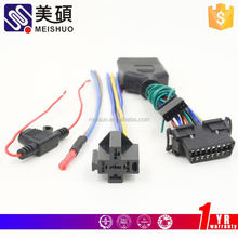Meishuo jfa connector j4000 series (w to b 6.35mm pitch) wire harness