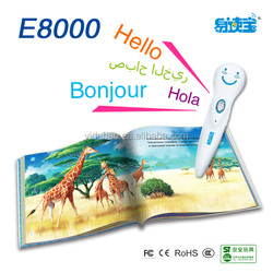 E8000 Work with 2,000 Audio Books,Children reading pen,Spanish learning pen ,Kids Educational Toys, Magic pen ,Baby learning toy