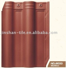 300x400mm matte red clay glazed roof tiles
