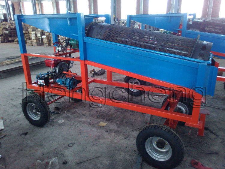 Mini Wash Plant : Low invest mini wash plant trommel screen small scale