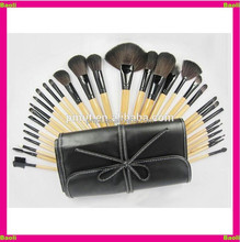 Baoli factory supply 32pcs make up brush set with soft bag case