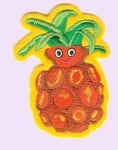 PVC voltar feltro crianças vestuário abacaxi projeto remendo do bordado para a roupa do bebê