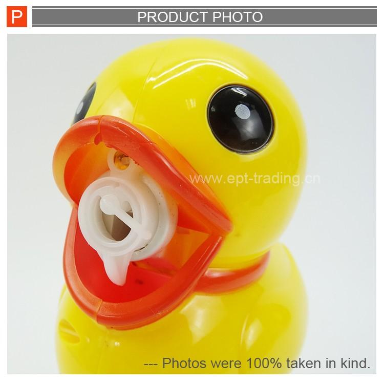 Lovely cartoon duck soap bubble gun toys for kids.jpg