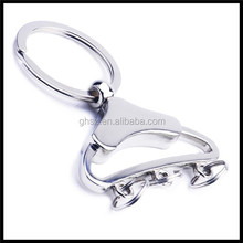 Custom stainless steel clothes hanger shape Key Chain with low moq manufacturer