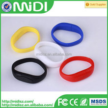 silicone wristband usb China manufacturer , cheap usb flash drive bracelets , leather wristband usb with OEM logo