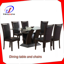 2014 modern design tempered glass dining table