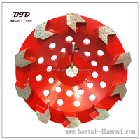 Diamond Arrow Cup Wheel for grinding hard concrete and coating removal