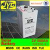2v 500ah battery,solar power pack battery for solar wind system