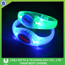Promotion Customized Colorful LED Light Up Bracelet For Party And Club, Logo Printed LED Light Up Bracelet For Brand Advertising