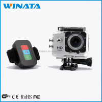 Factory Supply 2.0 inch Display Screen 40M Waterproof Remote Control Full HD 1080P Small Sports Action Camera