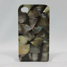 Cell Phone Cover with shell inlay