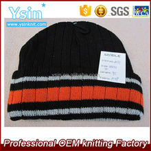 Acrylic knitted hat team beanie knitting