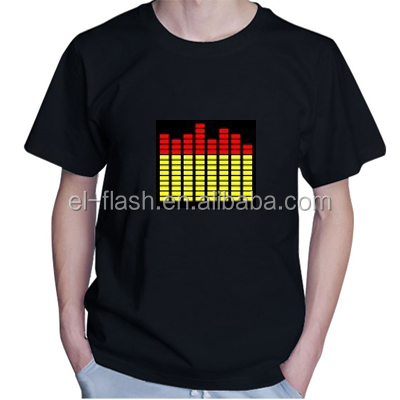 100% Cotton Made Sound Activated Equalizer Led T-Shirt