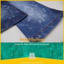 NO.ST-8027N light blue Flower printed denim fabric,floral printed denim fabric for shirt