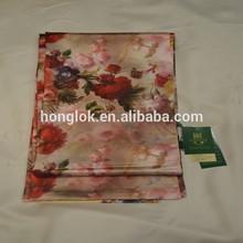 2014 honglok modèle hlss07 double couches imprimé foulard de soie châles d'hiver femme