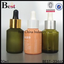 2015 hot colors painted Mixer essnetial oil Bottle With Dropper, wholesale 30ml frosted glass bottle refill oil 3sets