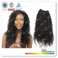 Grade 6A 100% human virgin brazilian tight curl remy hair weave