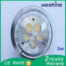nice heat radiation AR111 5W SMD LED spot light halogen light wholesale