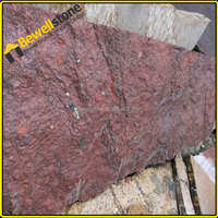 Natural red granite quarry textured stone wall tile