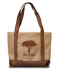 Made in the USA bio-jute tote bag. Constructed of fully bio-degradable jute. Comes with your logo.