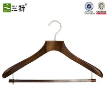 Supply a variety of wooden clothes hangers