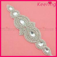 Wholesale fashion silver wholesale rhinestone applique WRA-549