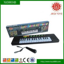 2015 most popular 32keys multi-function kids electronic organ with microphone without battery