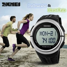 Guangzhou manufacturer&exporter&supplier hot stock 3D Pedometer heart rate without chest band wristwatches for men 2015