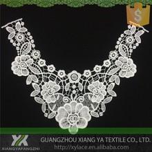 82007 diseños de bordado de la alta calidad química fabricantes de terminales de encaje de encaje de cuello blusa para grasa