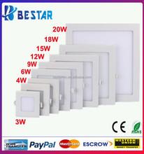 3W 6W 9W 12W 15W 18W Square Slim LED Panel Light SMD 2835 LED Panel Ceiling Lights
