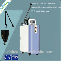 Q switch nd yag laser/beauty salon equipment/Laser tattoo removal Pigment Removal machine factory price