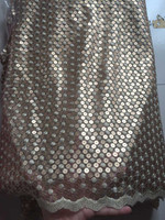 New high quality and low price net cloth sequins lace fabric of African NP0870