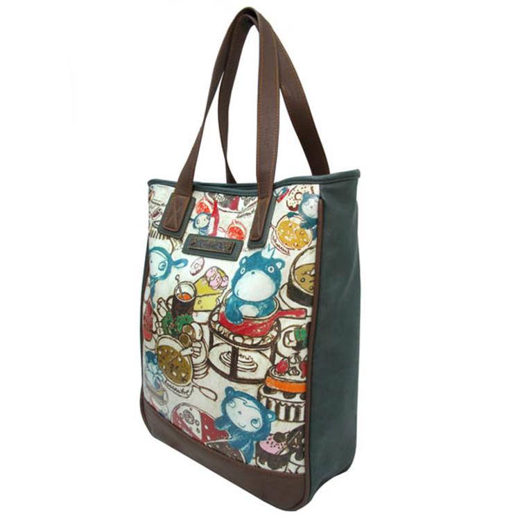 bright color canvas tote bag