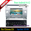 Car dvd player with GPS Navigation system for Citroen C4 2004 2005 2006 2007 2008 2009 2010 Android 4.4 quad core
