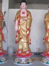 Painting Buddha statue bronze
