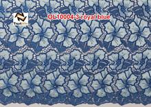 Tela del cordón del organza de la blusa de OL10004 royalblue