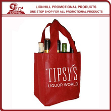 promotional custom jute tote wine bag