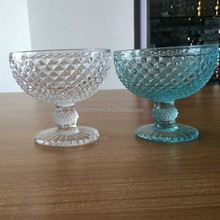 2015 Wholesale Good Quality and Cheap Ice cream glass cup With Base