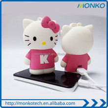 Hello Kitty power bank cartoon mobile charger for gift