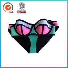 2015 lovely girls sexy neoprene swimming bikinis