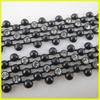 Decorative Wholesale Beaded Trimming Chain, ss10 Rhinestone Strip, Beaded Mesh Trimming