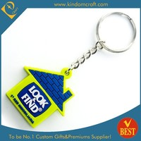 Supply custom rubber soft pvc keychain at factry price