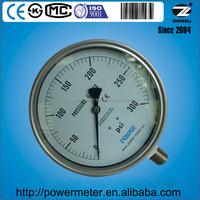 160mm pressure gauge en837-1 all stainless steel wika type bourdon tube 300 psi