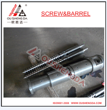 screw barrel PE sheet profile extruder twin conical screw and barrel (bimetallic)