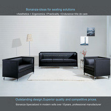 Modern High Quality Leather Office Sofa Set 824#