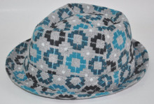 2015 fashion and colourful man's paper cloth fedora hat